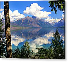 Rflection On Lake Mcdonald Acrylic Print by Marty Koch