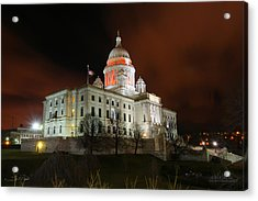 Rhode Island Capital Building Acrylic Print by Shane Psaltis