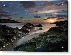 Acrylic Print featuring the photograph Rhosneigr Sunset  by Beverly Cash