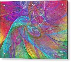 Ribbons Of The Rainbow Acrylic Print