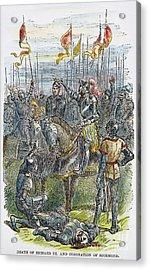 Richard IIi At Bosworth Acrylic Print by Granger