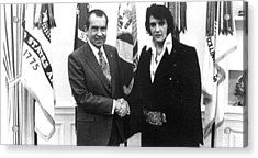 Richard Nixon Meets With Elvis Presely Acrylic Print by Everett