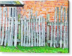 Rickety Fence Acrylic Print by Tom Gowanlock