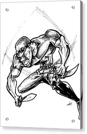 Riddick Acrylic Print by Big Mike Roate
