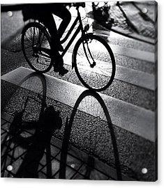 Ride The Lin. #shadow #bike #cycling Acrylic Print