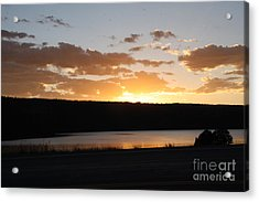 Acrylic Print featuring the photograph Ridgway Reservoir Sunset by Marta Alfred