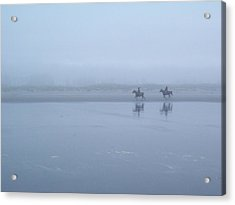 Acrylic Print featuring the photograph Riding In The Mist by Peter Mooyman