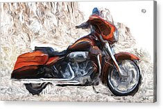 Riding In The Snow Acrylic Print by Wayne Bonney