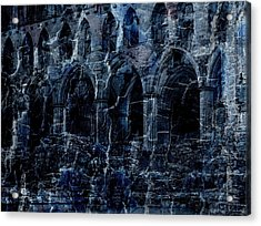 Rievaulx In The Crack Of Night Acrylic Print by Jen White