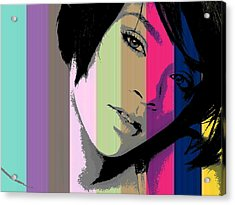 Rihanna 2 Acrylic Print by Chandler  Douglas