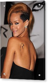 Rihanna At In-store Appearance Acrylic Print