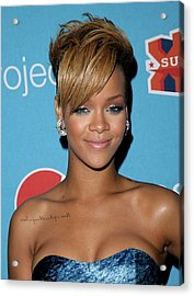 Rihanna In Attendance For Pepsi Refresh Acrylic Print by Everett