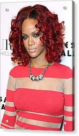 Rihanna In Attendance For Rihanna New Acrylic Print by Everett