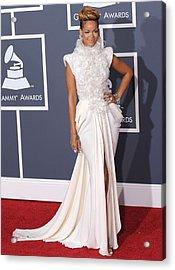 Rihanna Wearing An Elie Saab Haute Acrylic Print by Everett