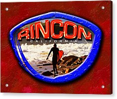 Rincon Logo Acrylic Print by Ron Regalado