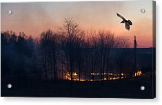 Ring Of Fire. Acrylic Print by Kelly Nelson