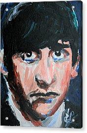 Ringo Starr  Acrylic Print by Jon Baldwin  Art