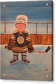 Rinkrattz - Jonny - Boston  Acrylic Print by Ron  Genest