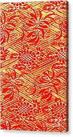 Rinzu Figured Satin Print 1825 Acrylic Print by Padre Art