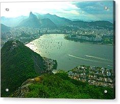Rio De Janiero. Breathtaking  Acrylic Print by Michael Clarke JP