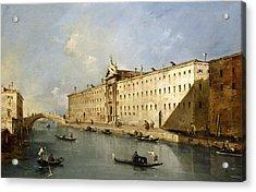 Rio Dei Mendicanti Acrylic Print by Francesco Guardi
