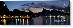 Rio Skyline From Urca Acrylic Print