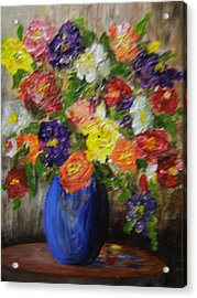 Riot Of Flowers Acrylic Print by Maureen Pisano
