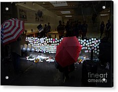 Rip Steve Jobs . October 5 2011 . San Francisco Apple Store Memorial 7dimg8558.highlighted Acrylic Print by Wingsdomain Art and Photography