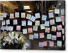Rip Steve Jobs . October 5 2011 . San Francisco Apple Store Memorial 7dimg8575 Acrylic Print by Wingsdomain Art and Photography