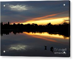 Acrylic Print featuring the photograph Riparian Sunset by Tam Ryan