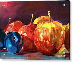 Ripe Plums And Apples Acrylic Print