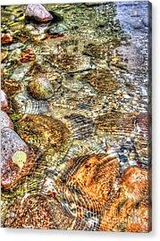 Ripple Effect Acrylic Print by Michael Garyet