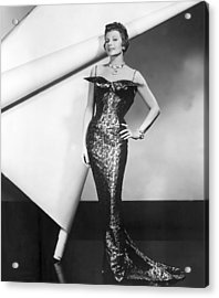 Rita Hayworth In Publicity Pose For Pal Acrylic Print by Everett