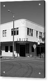 Ritz Building Eureka Ca Acrylic Print by Kathleen Grace