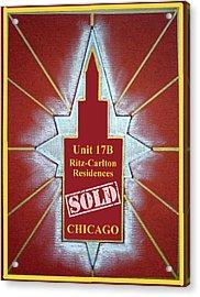 Ritz Carlton Sold Acrylic Print