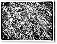 River Abstract Acrylic Print by John Rizzuto
