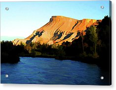 Acrylic Print featuring the digital art River Bend by Brian Davis