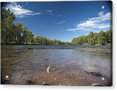 Acrylic Print featuring the photograph River Crossing. by Carole Hinding