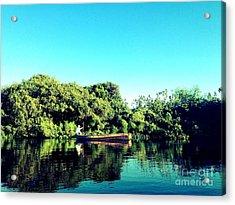 River Cruise Acrylic Print