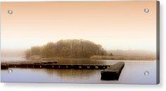 River Fog Acrylic Print by Karen Lynch
