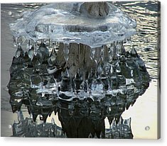 River Ice Acrylic Print by Dennis Pintoski