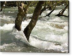 River Manavgat In Flood Acrylic Print by Bob Gibbons