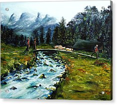 Acrylic Print featuring the painting River Of Dreams by Itzhak Richter
