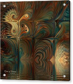 Acrylic Print featuring the digital art River Of Dreams by Kim Redd