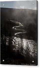 River Of Silver Acrylic Print by Charles Warren