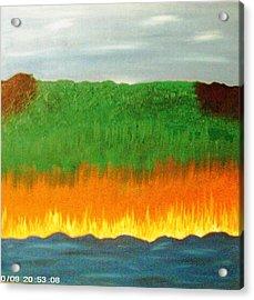 River Sambatyon Acrylic Print by Harris Gulko