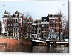 Acrylic Print featuring the digital art River Scenes From Amsterdam by Carol Ailles