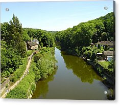 River Severn From The Iron Bridge Acrylic Print by Rod Johnson