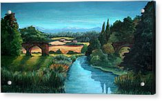 River Stour At Sturminster Newton Dorset England Acrylic Print by Ethel Vrana
