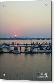Acrylic Print featuring the photograph River Sunset by Michael Waters